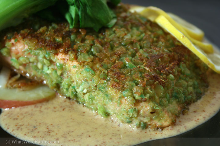 Wasabi Pea Encrusted Salmon