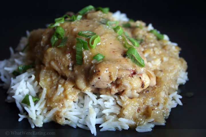 Mango Macadamia Nut Smothered Chicken