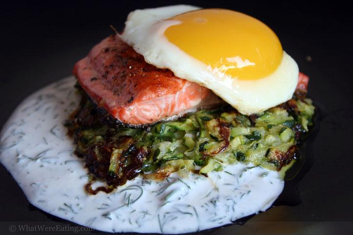 egg salmon zucchini