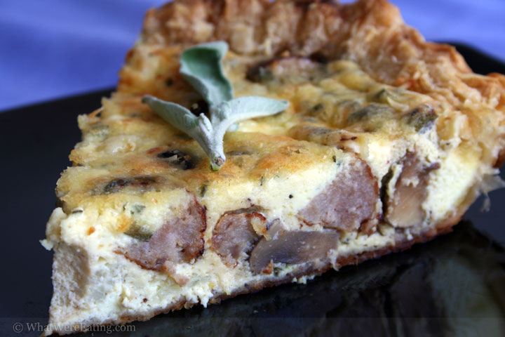 Crimini and Sausage Quiche