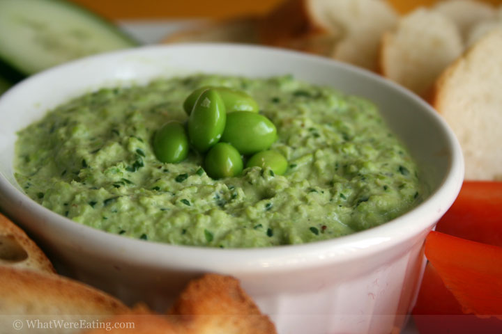 edamame herb chevre and roasted garlic dip edamame and goat
