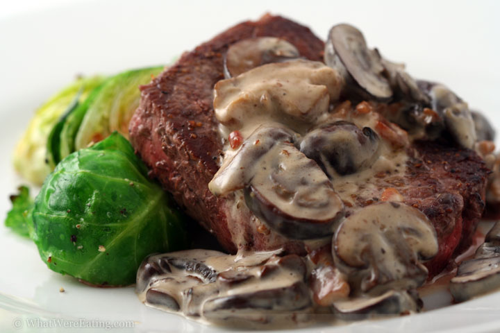 beef steak and mushrooms