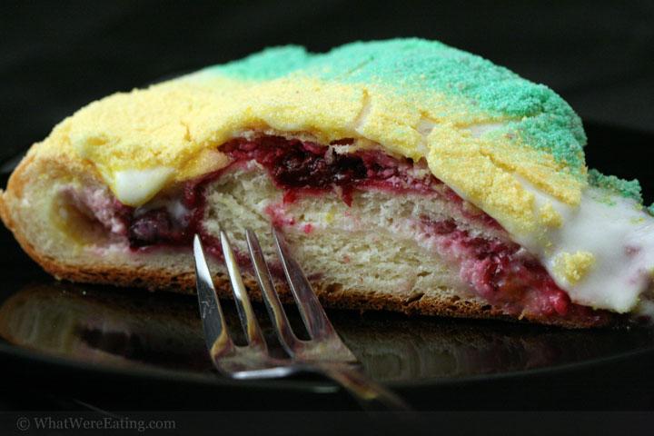Mardi Gras King Cake With Cream Cheese Filling Recipe