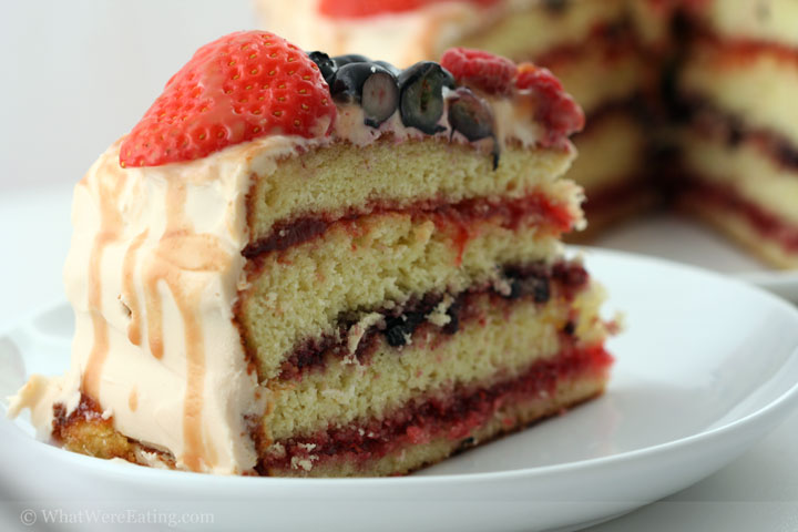 Berry and Caramel Cake