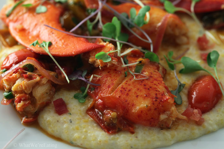 lobster and chevre grits