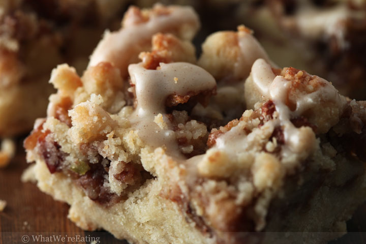 Cinnamon Apple Pecan Crumb Bars