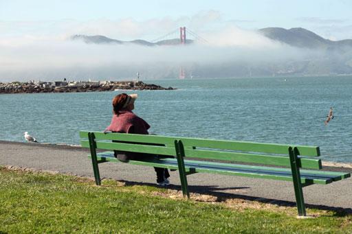 Fog on the Golden Gate Bridge