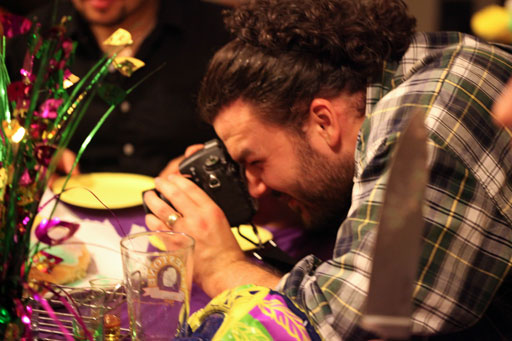 James Photoing the King Cake