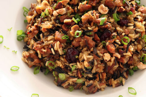 sweet and savory wild rice dressing