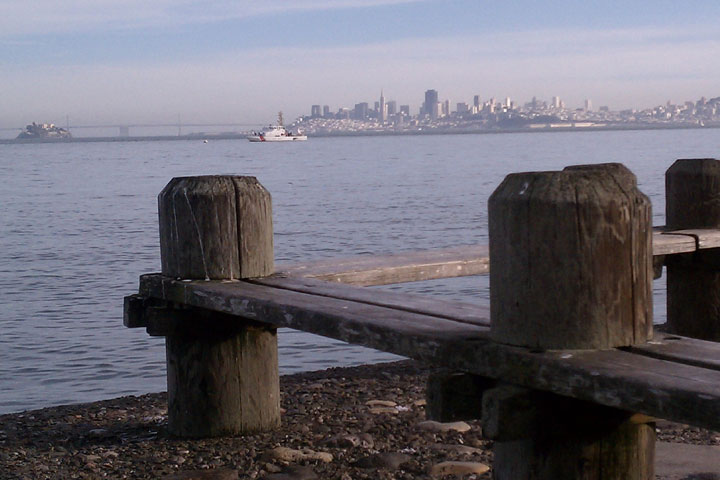 sausalito's view of san francisco