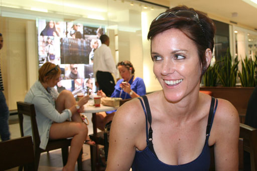 Kristelyn looking mischievous on our shopping trip to Plazas Las Americas