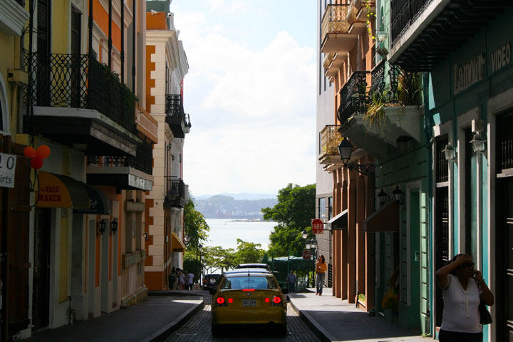 streets of old san juan puerto rico with water in the background