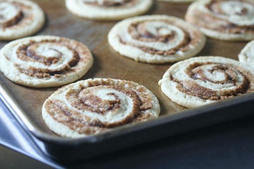 baked pumpkin pie spice swirled sugar cookies