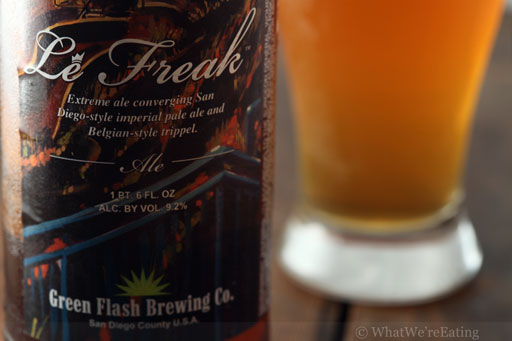 Le Freak Green Flash Beer Label