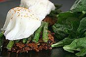 Poached Egg Asparagus Latke