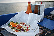 Lobster tacos on the pier