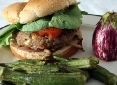 Mediterranean Turkey Burger with Roasted Okra
