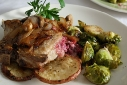 Danish Bleu Cheese and Cranberry Stuffed Pork Chops