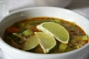 Lime, Chicken, and Vegetable soup