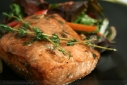 Balsamic Thyme Baked Salmon
