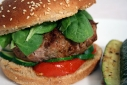 Bacon, Basil, and Bleu Cheese Stuffed Turkey Burger