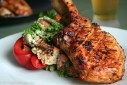Chipotle Grilled Pork Chop & Bread Salad