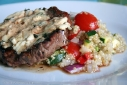 New York Strip and a Tangy Quinoa Salad