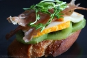 Serrano Ham and Kiwi Bruschetta