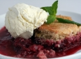Strawberry and Blackberry Cobbler... with a Hint of Ginger