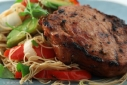 Chinese-y Grilled Pork Chop w/ Rice Noodle Salad