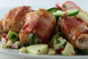 bacon-wrapped turkey breasts with jalapeno