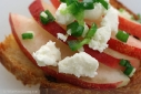Nectarine and Chevre Crostini