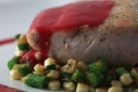 Seared Mahi Mahi with Sauteed Corn &amp; Green Beans