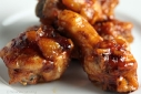 Sriracha-Peach Chicken Wings