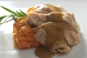 Knorr Homestyle Stock: Kicked-Up Cream Cheese Mashed Sweet Potatoes