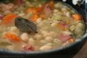 Smokey White Bean and Ham Soup