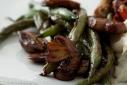 Balsamic Glazed Green Beans and Cremini Mushrooms