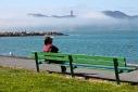 fog on the golden gate bridge, san francisco, california