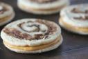 Pumpkin Pie Spice Swirled Sugar Cookie Sandwiches w/ Pumpkin Buttercream